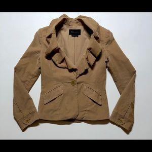 BCBGMAXAZRIA Blazer S wale corduroy ruffled collar